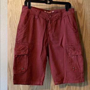 Mens Raw X red cargo shorts 30